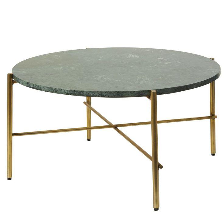 Table Basse Ronde En Marbre Vert Et Metal Coloris Laiton Pietra Maisons Du Monde Marble Round Coffee Table Metal Coffee Table Coffee Table