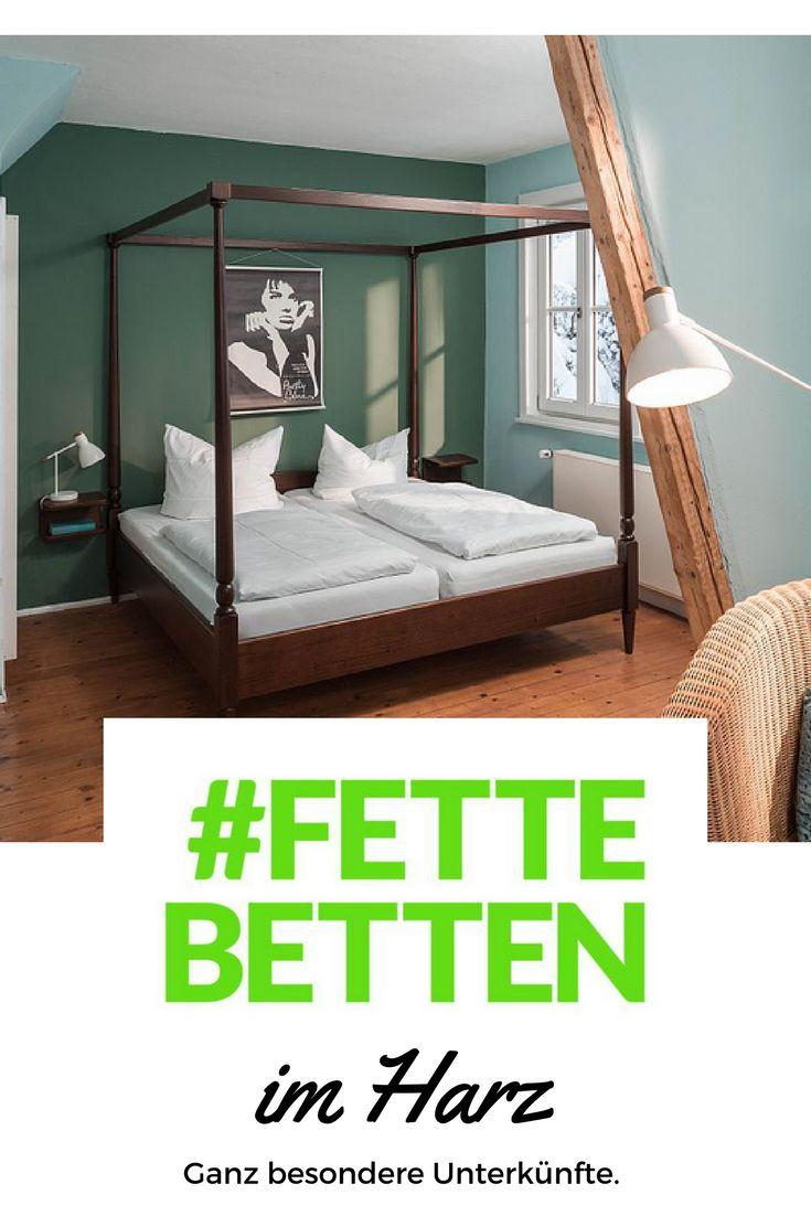 Ferienwohnungen, Ferienhäuser, Hütten, Hotels, Pensionen und Apartments im Harz - Bei #FetteBetten zeigen wir euch richtig coole Unterkünfte für euren Urlaub im Harz!