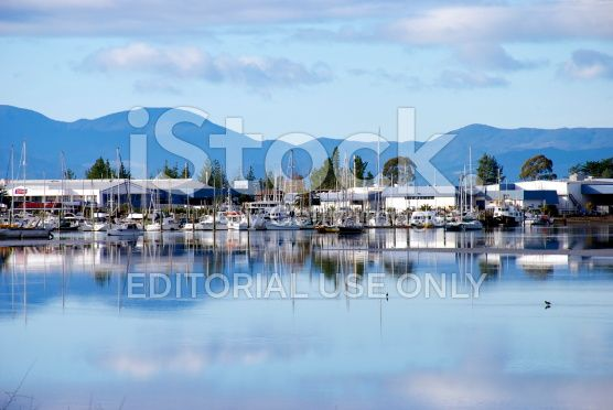 Motueka Marina, Tasman Region, New Zealand royalty-free stock photo