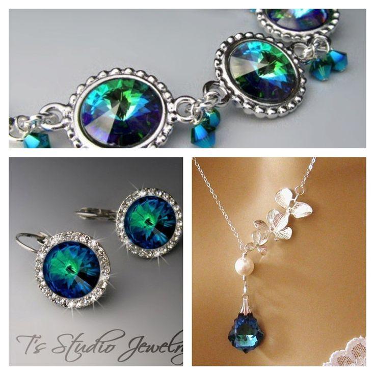 Peacock wedding jewelry inspiration