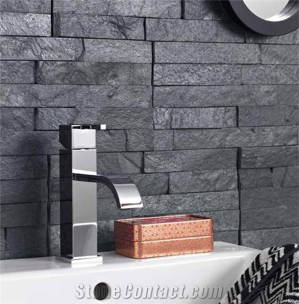 Black Stone Bath : ... Shower on Pinterest Slate bathroom, Natural stones and Wooden walls