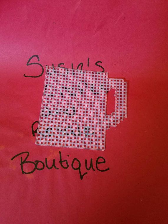 Precut plastic canvas cup by smf1229 on Etsy