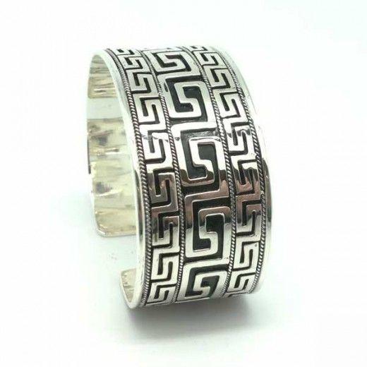 Brazalete Plata de Ley con Grecas / Bracelet Sterling Silver