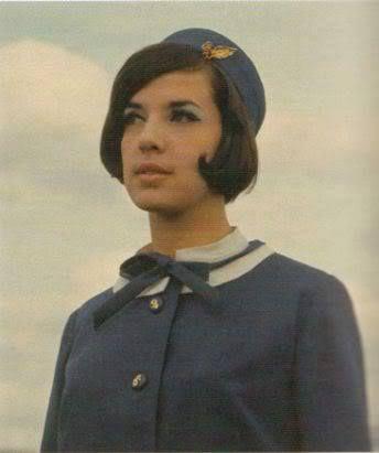 Olympic Airways uniform,1966-1968 Designer Coco Chanel