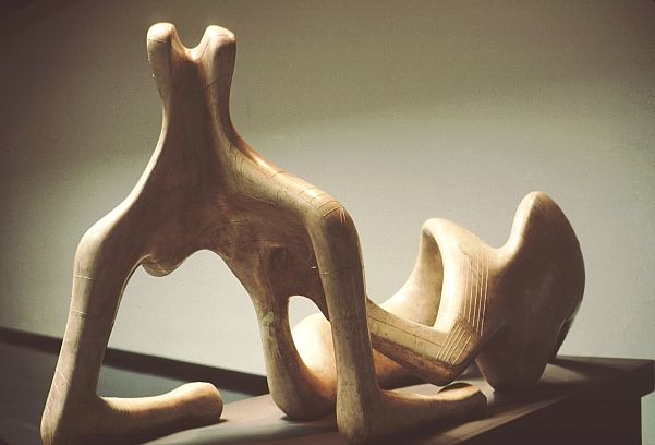 Reclining Figure by Henry Moore .. plaster, 1951
