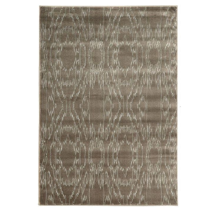 Prisma Electric Brown and White 8 ft. x 10 ft. 4 in. Indoor Area Rug, Primary: Brown/Secondary: White