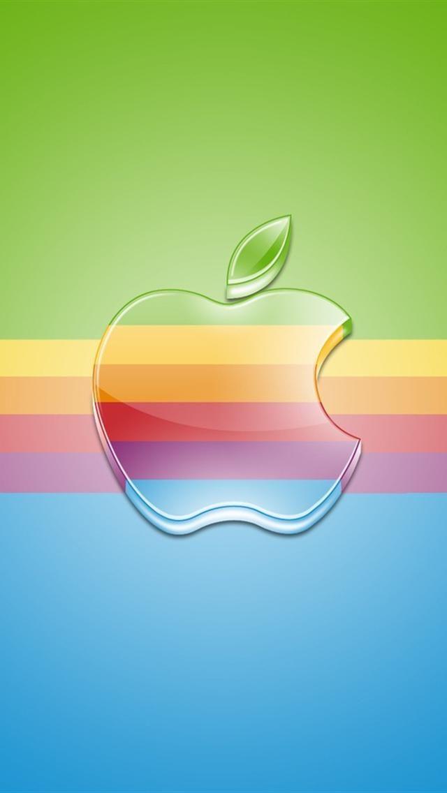 iPhone 5 Wallpaper Apple logo colors