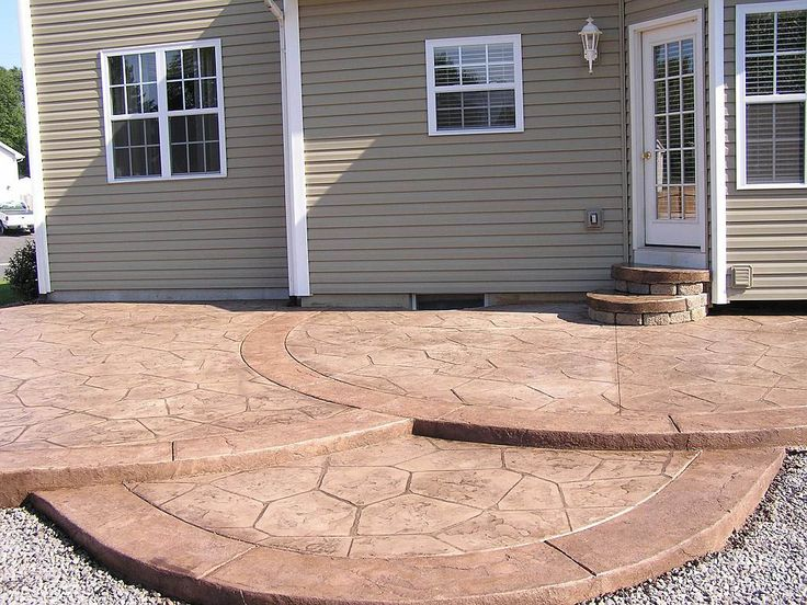 backyard concrete patio ideas find this pin and more on outdoors sanctuary brick edging around concrete
