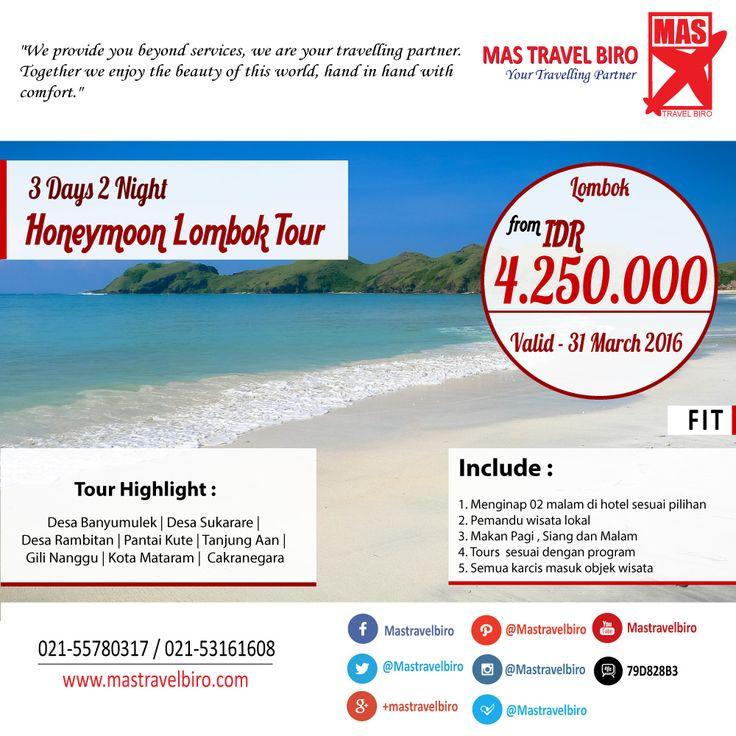 Honeymoon di Lombok Sekaligus Tournya Mulai Dari Rp 4.250.000/Couple, Pesan Sekarang buat anda yang ingin bulan madu atau ingin berbulan madu lagi :D    #honeymoon   #tour   #lombok   #promo