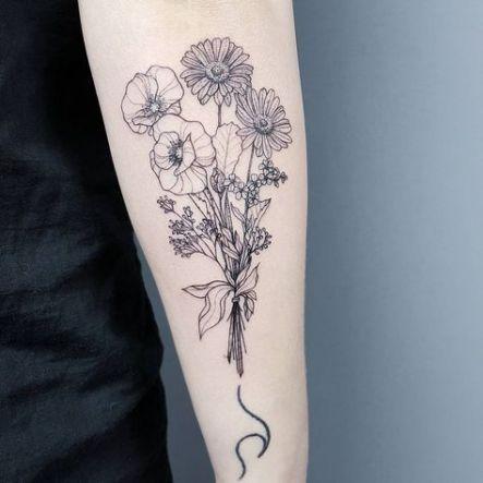 Tattoo Wave Flower Tat 48 New Ideas