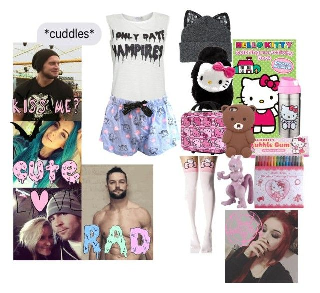 """""""on a plane panic"""" by hexgirl6672 ❤ liked on Polyvore featuring Silver Spoon Attire, Hello Kitty, Forever 21, Leg Avenue and GET LOST"""