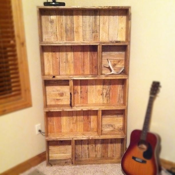 Shipping Pallet Bookcase Easley Living Pinterest