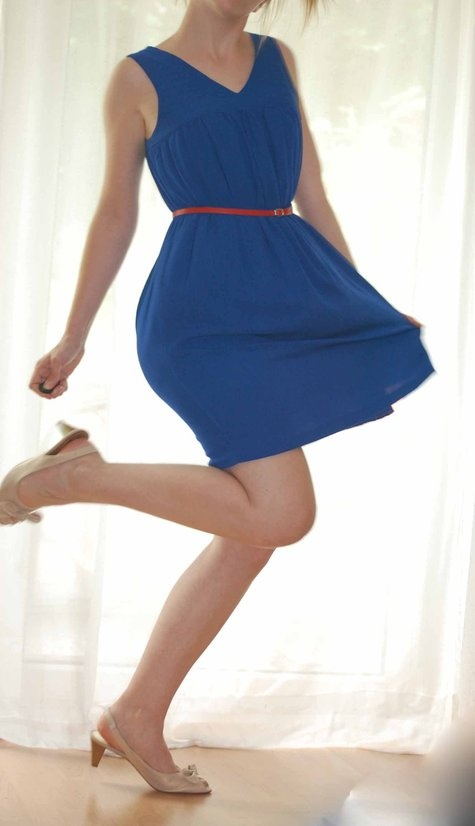 so very blue. free burda pattern.