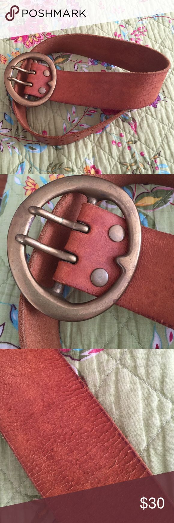 """Lucky brand belt with solid brass buckle Cute belt that is an XS (30"""") but I've (size 6/8) worn as a cute accent over dresses and long sweaters. Lucky Brand Accessories Belts"""