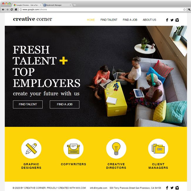 creative staffing agency wix website templates pinterest creative website template and. Black Bedroom Furniture Sets. Home Design Ideas