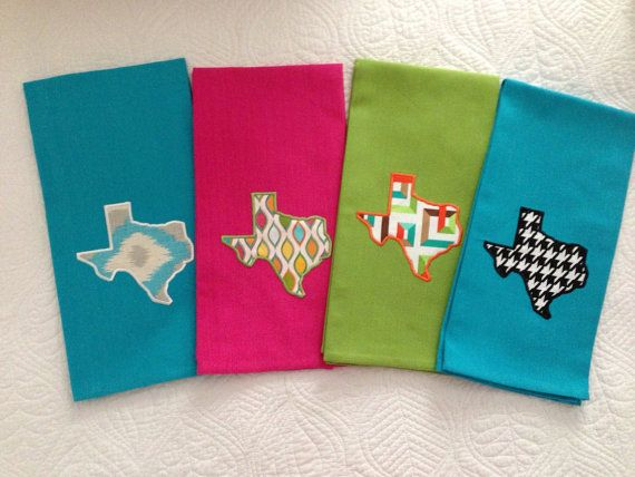 Texas kitchen towels by Shadsy on Etsy, $15.00