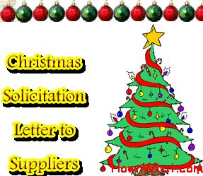 Example of Writing Christmas Solicitation Letter to ...