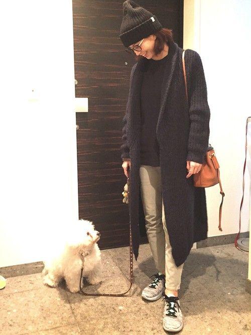 友人とランチ!!はんなもお散歩ついでに。。 今しか着れないコーディガンていうやつ。