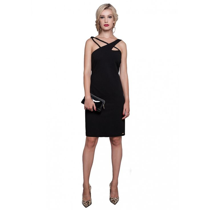 Φόρεμα μόνοχρωμο με παντάκια (5126)