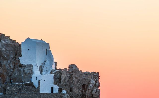 Stavros Tzovaras Photography Church on the top of Chora -Amorgos island