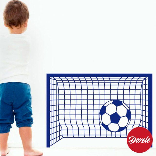 Vinilos Decorativos Infantiles Arco de Futbol #VinilosDecorativos #VinilosInfantiles #ArcoFutbol #Pelota #Futbol #Dozele