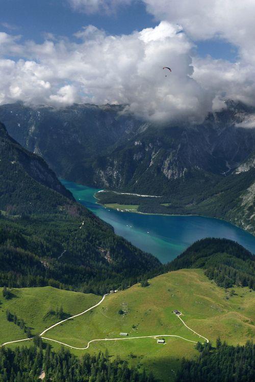 ponderation:  Blick auf den Königssee in Bavaria by B℮n