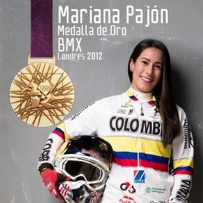 Mariana Pajón - Medalla de Oro mundial en Bicicross
