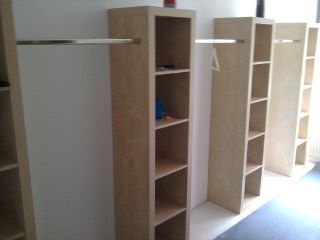 ikea hack--always on lookout for inexpensive ways to obtain maximum storage
