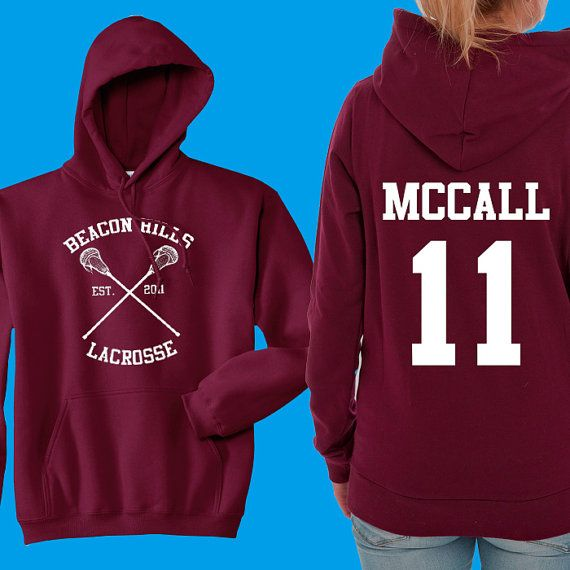 Teen Wolf Hoodie, collines de Beacon Lacrosse Hoodie, McCall 11, Teen Wolf Hooded Sweatshirt taille S - 4XL - Lahey, Stilinski, Hale, disponible