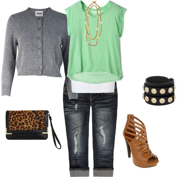 """""""jeans and tshirt"""" by kymwray on Polyvore"""
