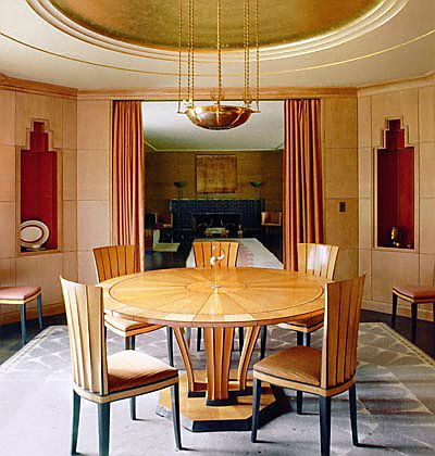 Art deco style dining room in the presidents hhouse at cranbrook academy of art michigan designed by eliel saarinen