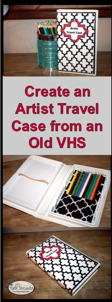 Create an Artist Travel Case from and Old VHS #TigerStrypesBlog                                                                                                                                                                                 More