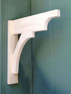 """'The Craftsman' 24"""" X 24"""" Garage Trellis Bracket. White cedar handmade in Northern California"""