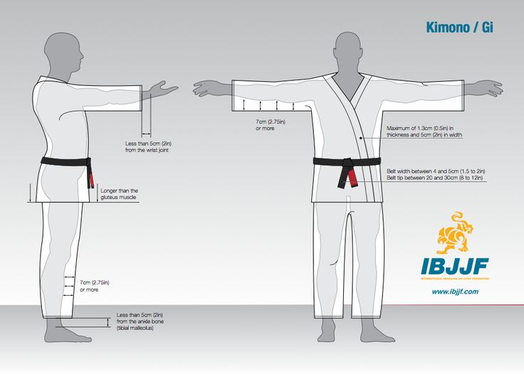 IBJJF Gi measurements. If your Gi is out with these guidelines you run the risk of not getting on the mat for competition.