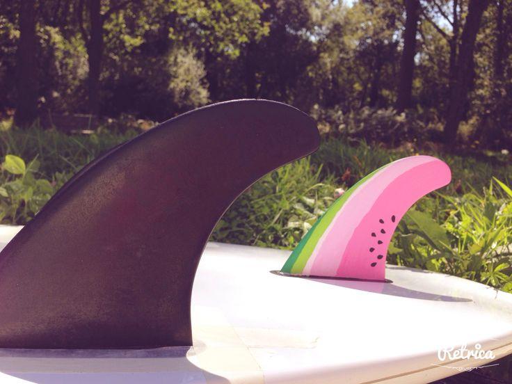 Surf fin diy posca custom watermeloon summer