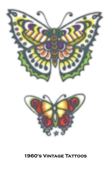 Tattoo Vintage Butterflies
