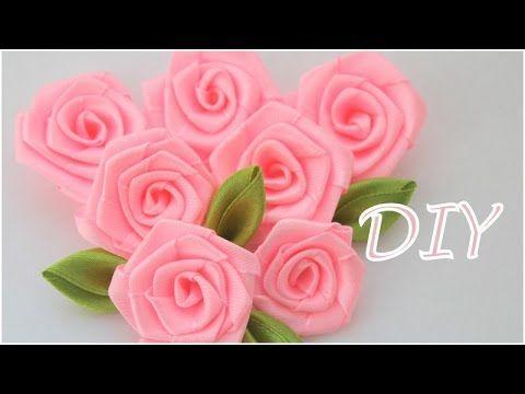 Lindo passo a passo de como fazer rosas com fita de cetim. Artesã: Olga Ivanova