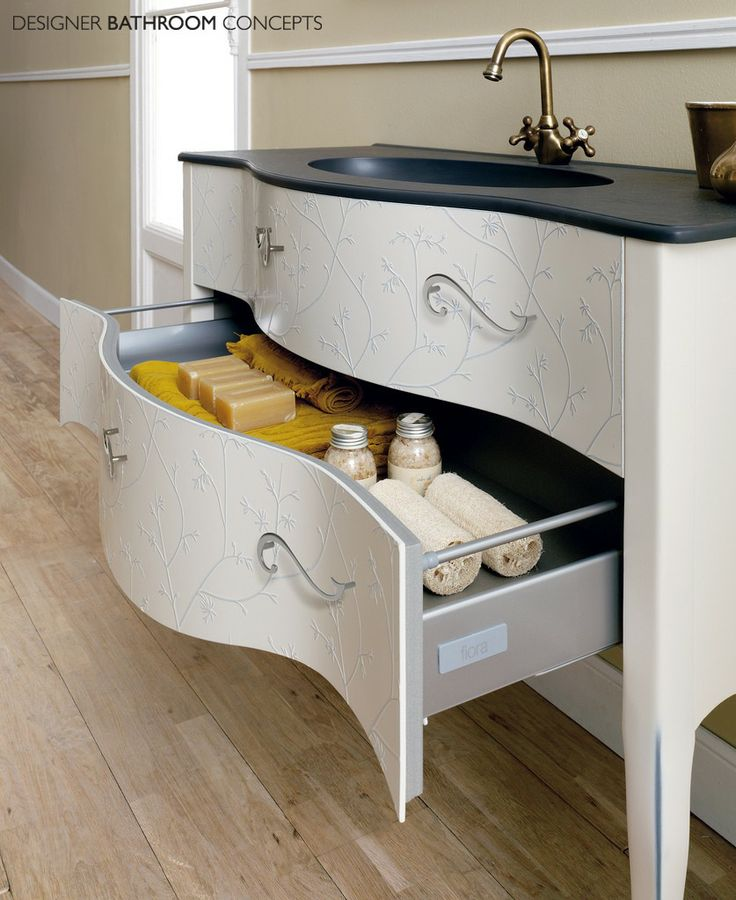 Large Vintage Style Free Standing Bathroom Basin Vanity Unit With Twin Storage Drawers Modern Bathroom Storage Ideas