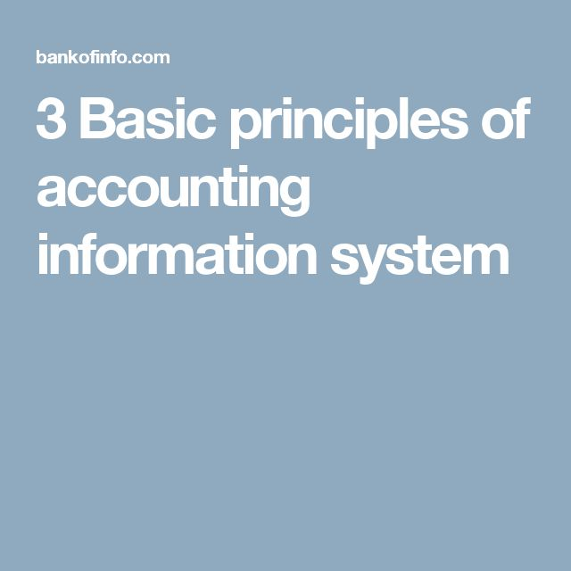 3 Basic principles of accounting information system