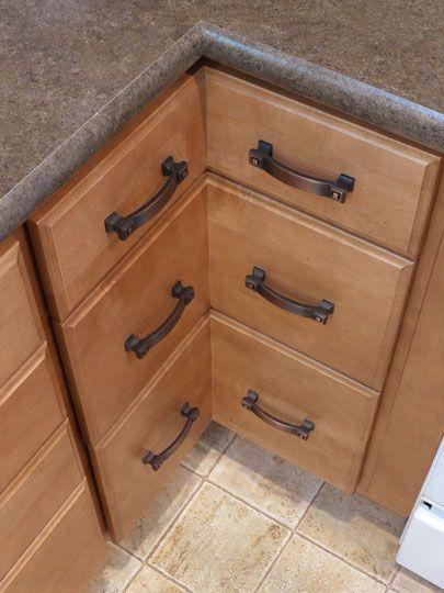 17 best images about drawers on pinterest marshmallow for Bottom corner kitchen cabinets
