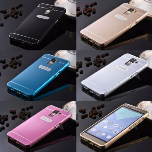 *New Luxury Aluminum Metal Bumper & Acrylic Back Case Cover For Huawei Honor 7*