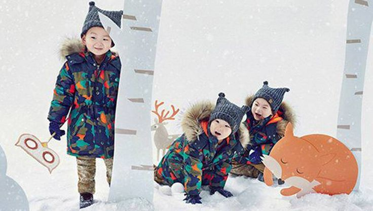"""Song Il Kook's Triplets Dress Cozy for Winter with """"Skarbarn"""" Clothing 