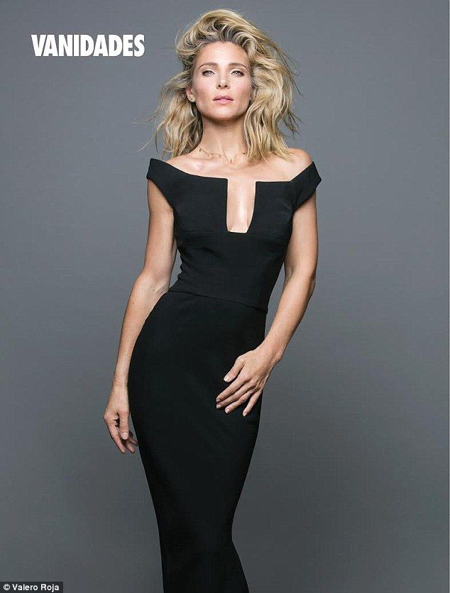 Bombshell in black: The Spanish actress exuded elegance in a cleavage-baring black dress a...
