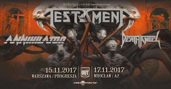 Heavy Metal Music & More  : Testament: ruszyła sprzedaż biletów