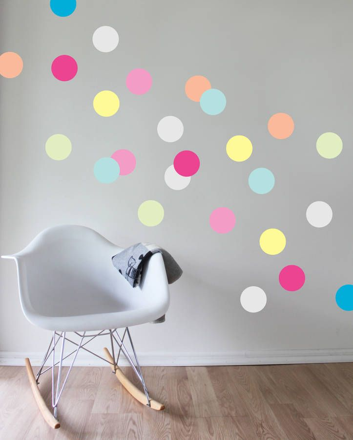 polka dot wall painting