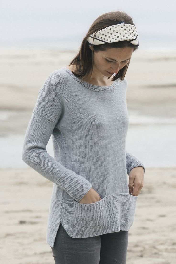 leda pullover by pam allen / from the tern 2016 collection / in quince & co. tern, color mist