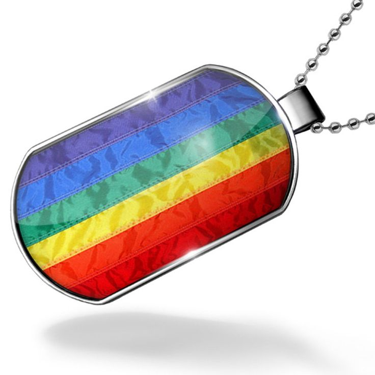 Dogtag Rainbow Flag Dog tags necklace - Neonblond. Unisex gift for Men & Woman. We have more then 30,000 different Dog tags in stock. Made in Atlanta ,GA. Money-back Satisfaction Guarantee. Rainbow Flag.