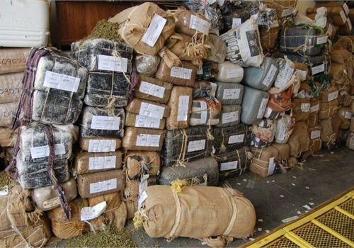 Mexican drug cartels smuggle marijuana into the U.S. in bundles like these. Photo by Paul
