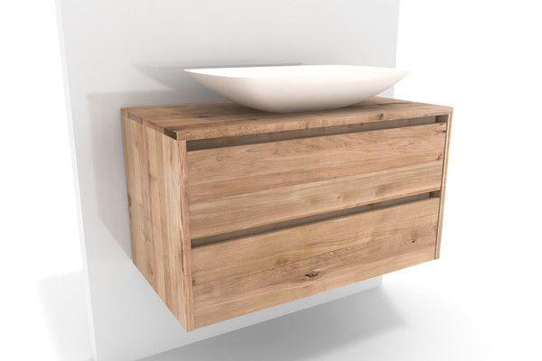 Badunterschrank Massivholz Kernbuche Mit Schubladen Auf Mass Unterschrank Fur Aufsatzwaschbecken Unterschrank Waschbecken Badunterschrank