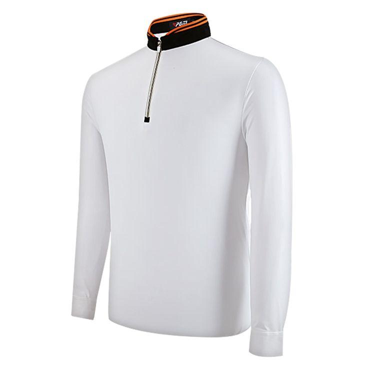PGM Golf Clothing Men's Golf Polo Shirts New Breathable Elastic Golf Full Uniforms  Tshirts Ropa De Golf Men Table Tennis Shirt